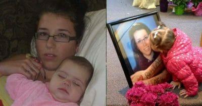 Grafika przedstawia dwa zdjęcia: po lewej Rehtaeh ze swoją młodszą siostrą, po prawej młodsza siostra dziewczyny całuje jej zdjęcie