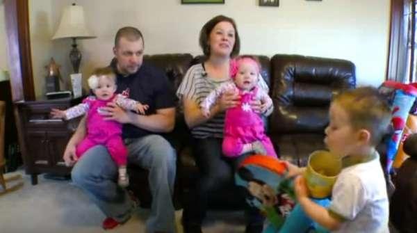 Na zdjęciu znajduje się cała rodzina Thistlewaite