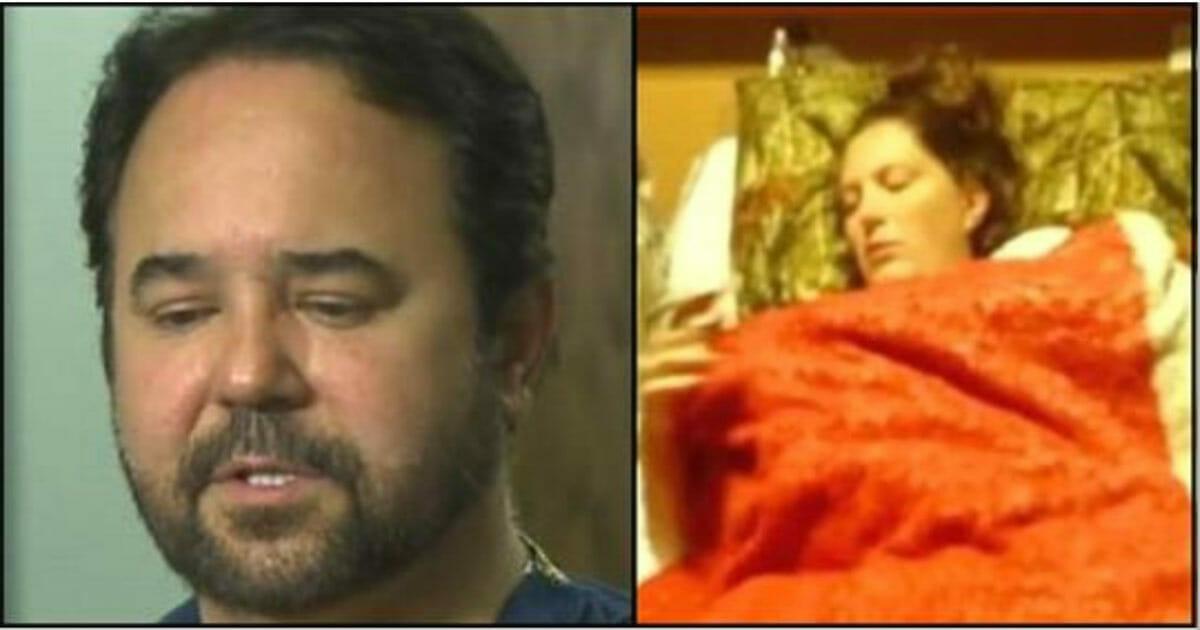 Grafika przedstawia dwa zdjęcia, po lewej doktor Jorge, po prawej Kristina w szpitalnym łóżku