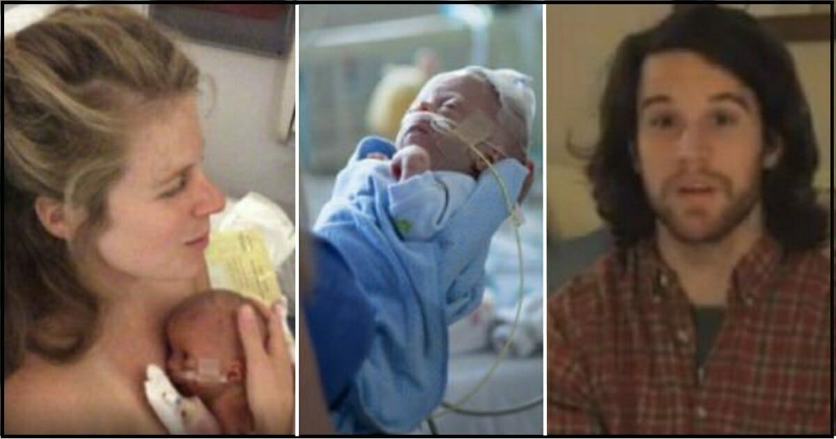 Grafika przedstawia trzy zdjęcia: od lewej Katie, Dewey i Josh