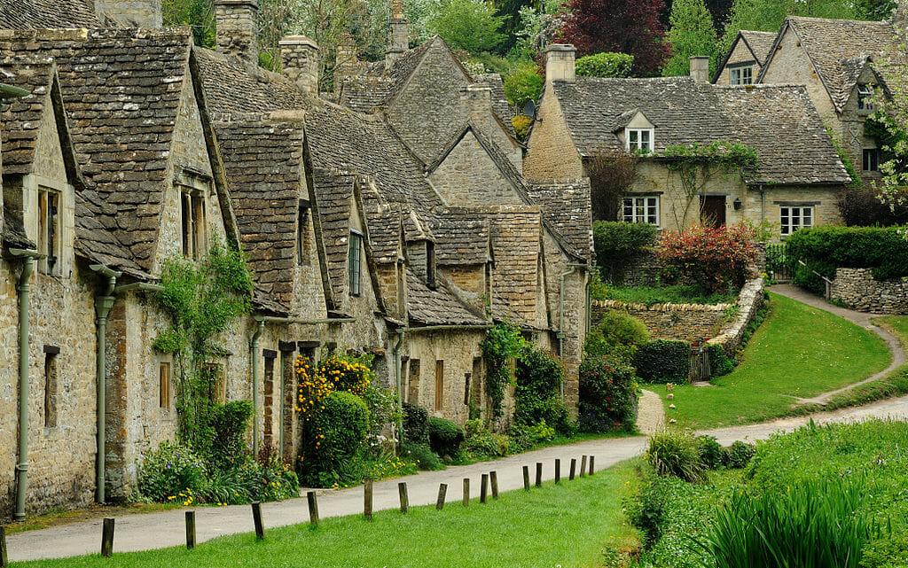 Domy w angielskiej miejscowości
