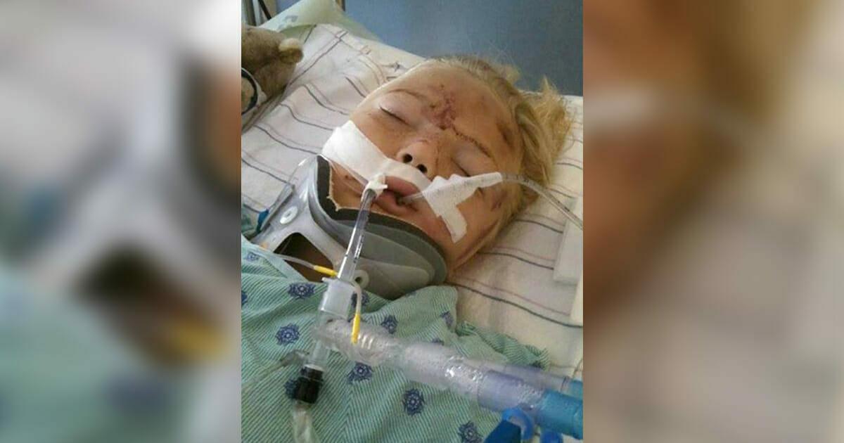6-latka zostaje prawie przecięta w pół w wyniku często popełnianego błędu - teraz jej mama pragnie ostrzec innych rodziców