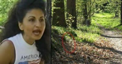Grafika przedstawia dwa zdjęcia: po lewej Azita, po prawej las
