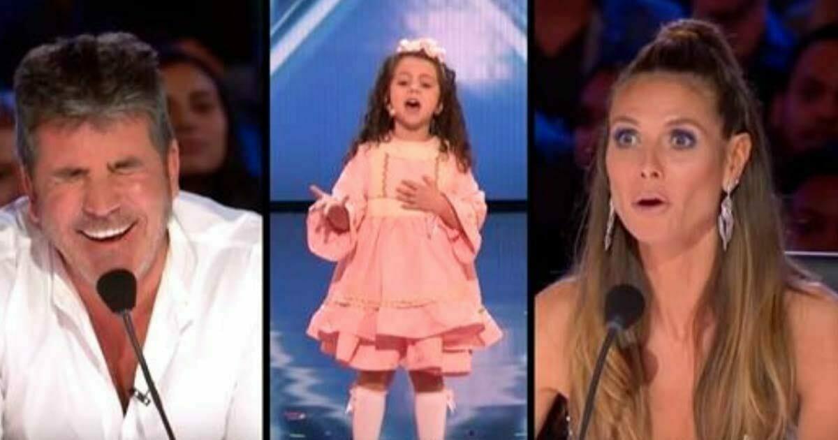 5-latka wprawiła w zachwyt wszystkich - zobacz reakcję Simona, gdy dziewczynka mierzy się z utworem Sinatry