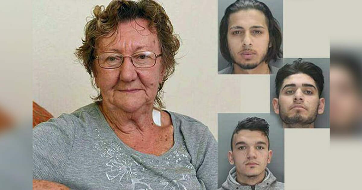 77-letnia kobieta chce wypłacić pieniądze z bankomatu, gdy pojawia się 3 mężczyzn - chwilę później okazuje się, że wybrali złą osobę do obrabowania