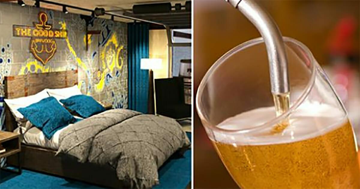 Powstał pierwszy na świecie hotel piwny - w każdym pokoju znajduje się nalewak do piwa!