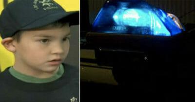 Grafika przedstawia dwa zdjęcia: po lewej Carlos, po prawej syrena policyjna