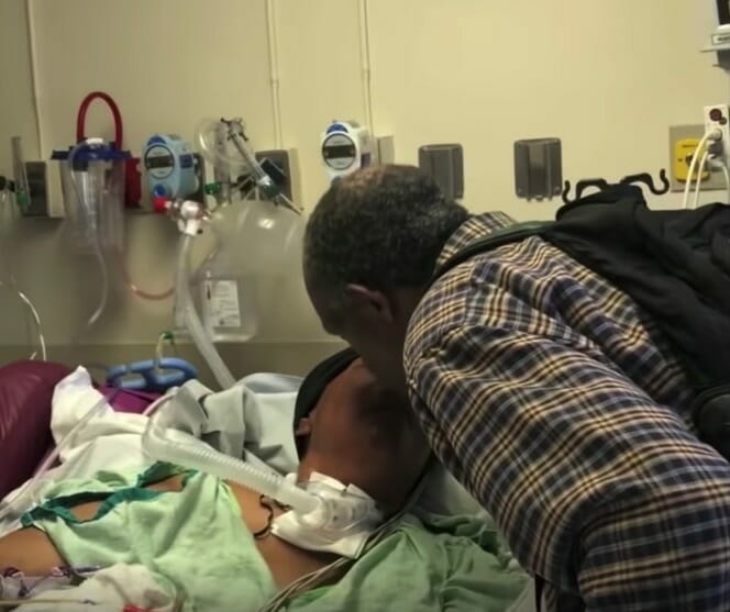Luther odwiedza leżącą w szpitalu żonę
