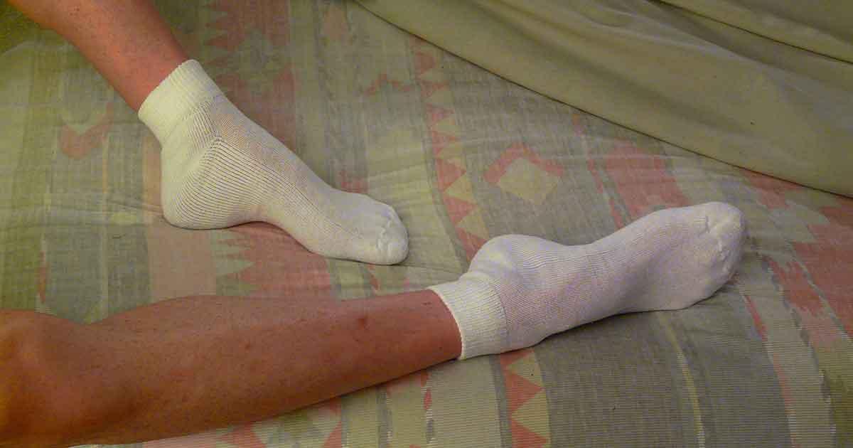 skarpetki na nogach