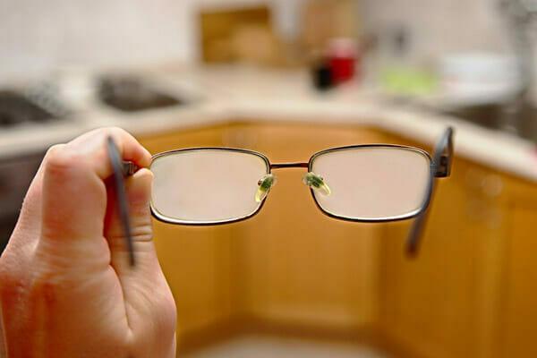 Zaparowane okulary