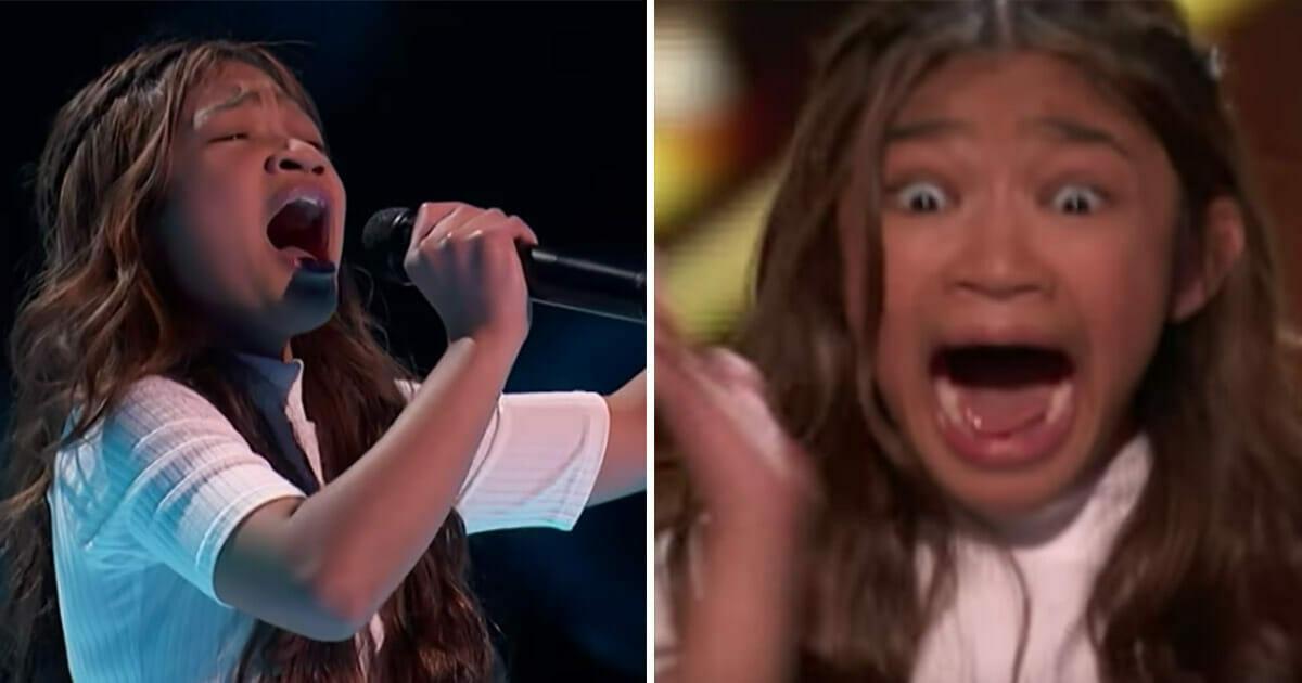 """Utalentowana 11-latka powraca na scenę z utworem """"Fight Song"""" - sama nie może uwierzyć w reakcję jury"""