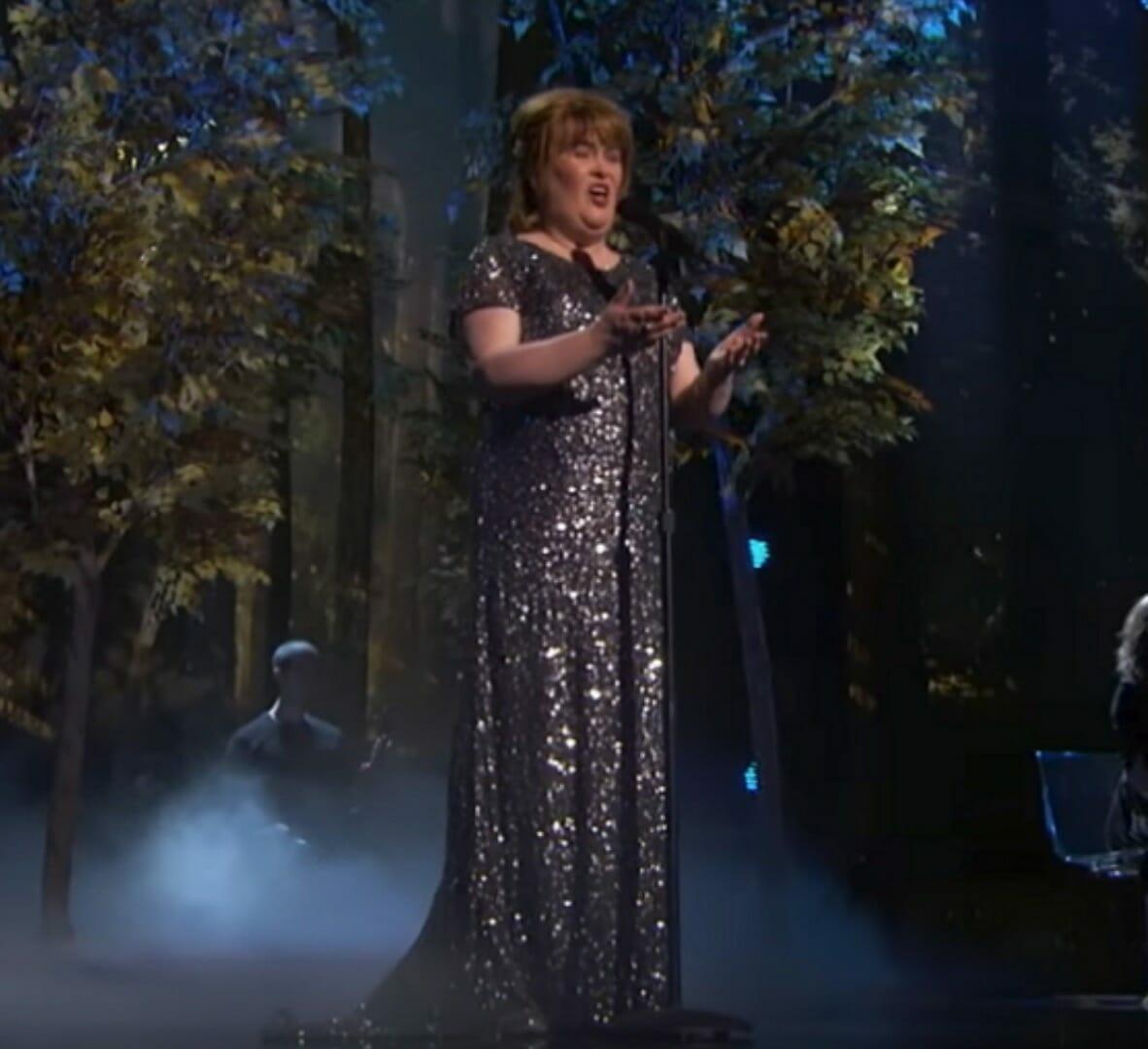 Susan na scenie w AGT