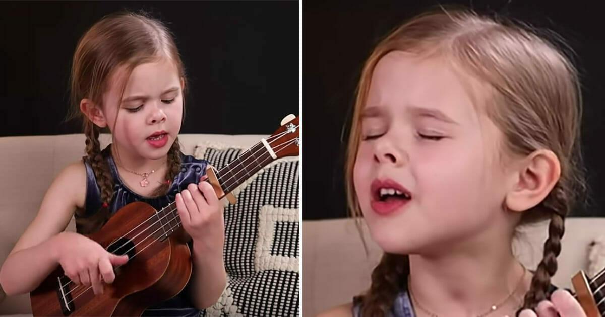 6-letnia dziewczynka śpiewa utwór Elvisa i gra na ukulele - zobacz występ, który podbił internet