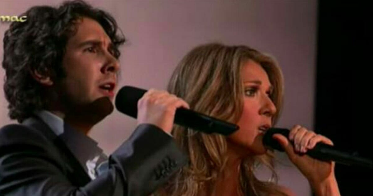Celine Dion i Josh Groban podczas wspólnego występu