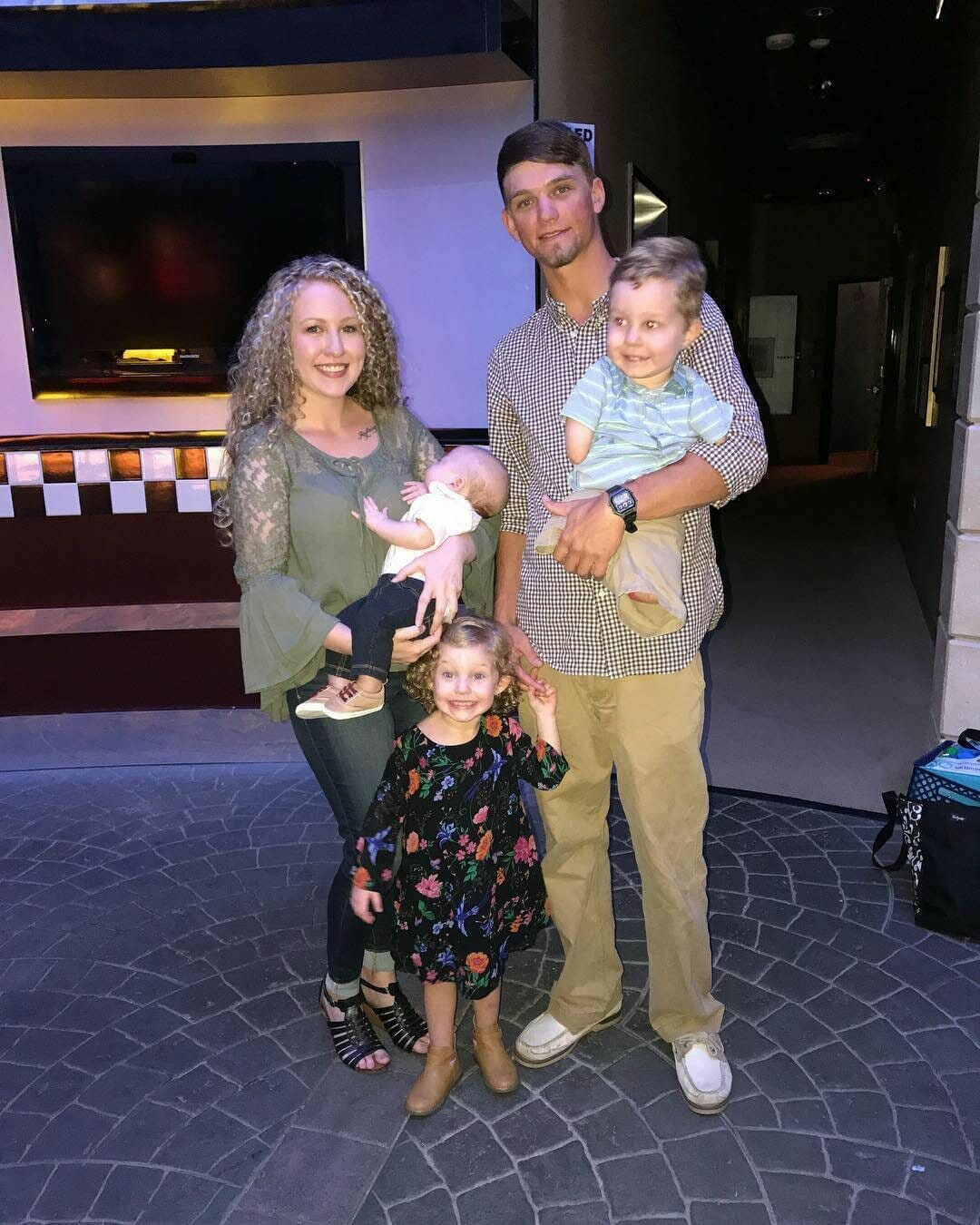 Camden z rodzicami i rodzeństwem