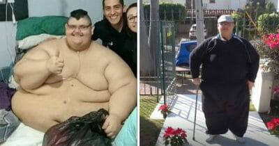 Najgrubszy człowiek na świecie odmienił swoje życie - schudł kg i po 10 latach znów może chodzić