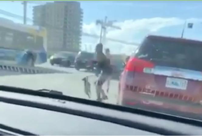 nagranie z samochodu pokazujące kłócące się kobiety