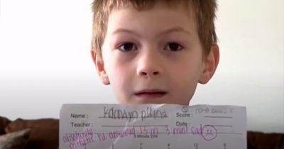 """Nauczyciel napisał """"bardzo kiepsko"""" na sprawdzianie matematycznym 7-latka"""