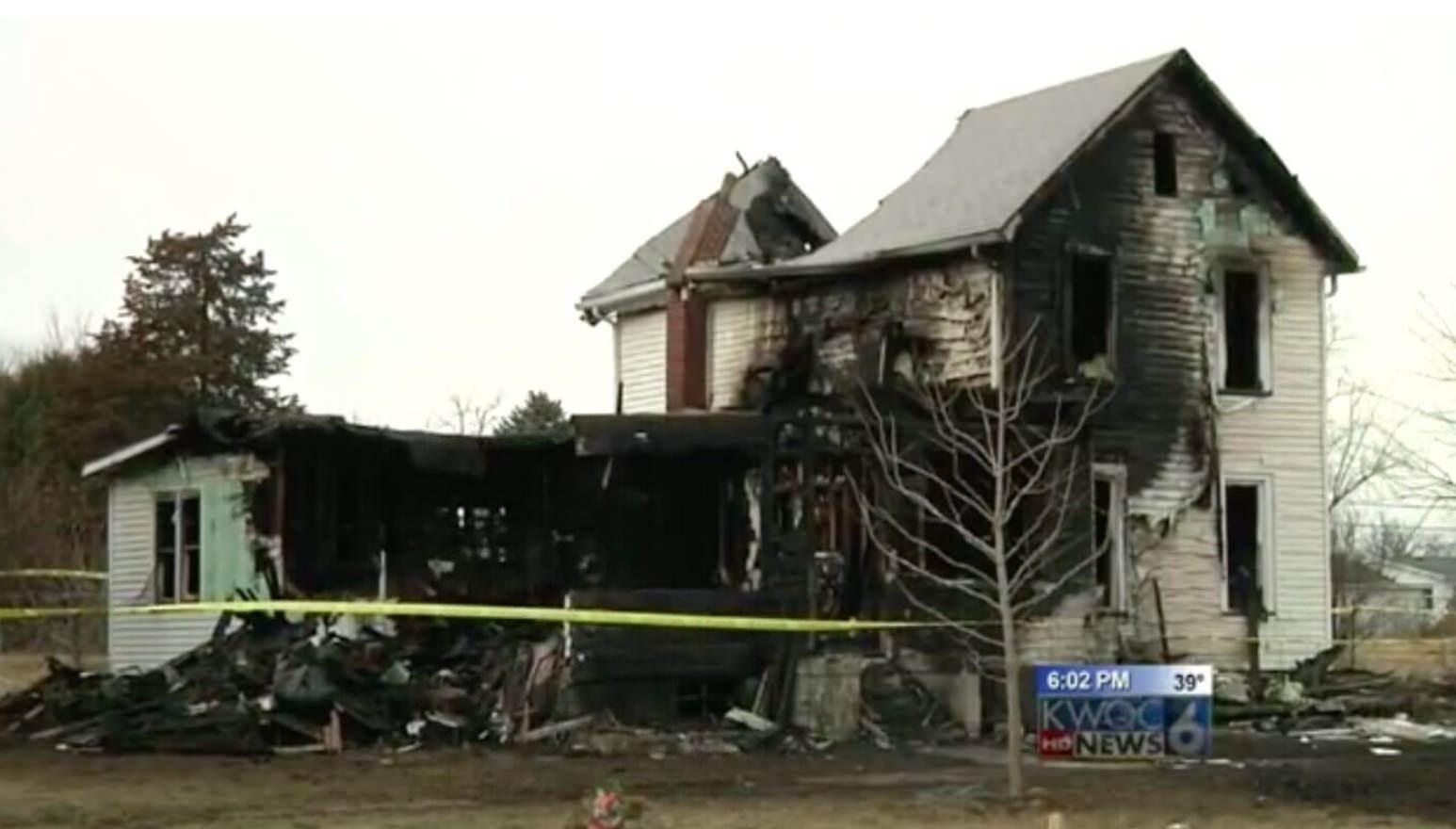 spalony dom