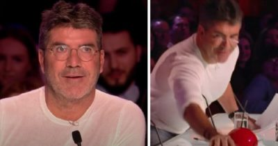 """Simon nie traktuje poważnie występu dziewczyny, po tym, gdy zdradza wybór piosenki – minutę później rzuca się na """"złoty przycisk"""""""