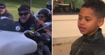 Motocykliści dowiadują się o zastraszaniu siedmiolatka - pojawiają się w szkole i robią to co należy