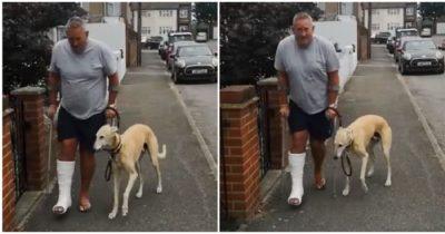 Po wizycie za 1600 złotych u weterynarza mężczyzna dowiaduje się, że jego kulejący pies naśladuje go ze współczucia