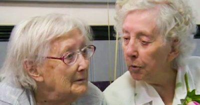 Mające 101 lat bliźniaczki, Edith i Dorcas ciągle są nierozłączne - pomimo, że mieszkają 130 km od siebie, spotykają się co tydzień