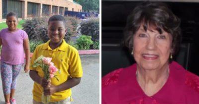 8-letni chłopiec został nazwany bohaterem po tym, jak jego szybka reakcja uratowała starszą sąsiadkę