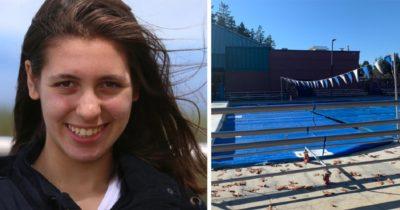 14-letnia dziewczynka utonęła po tym, jak drużyna pływacka założyła plastikową osłonę na basen, gdy jeszcze w nim była – spoczywaj w pokoju