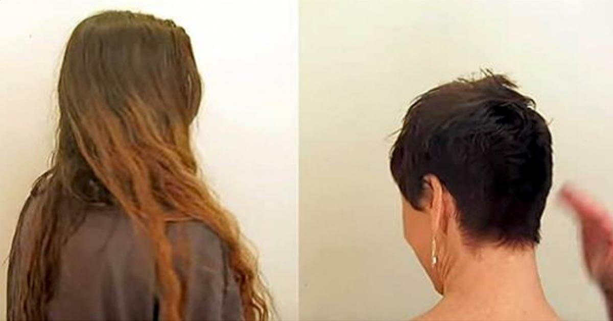 40-vuotias nainen leikkaa 60cm pois tukastaan: Kääntyy ympäri ja purskahtaa välittömästi kyyneliin