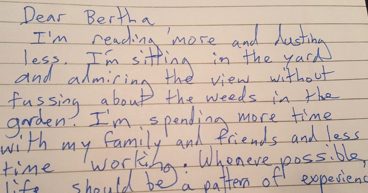 83 Jährige Schreibt Einer Alten Freundin Einen Brief Ihre Letzten