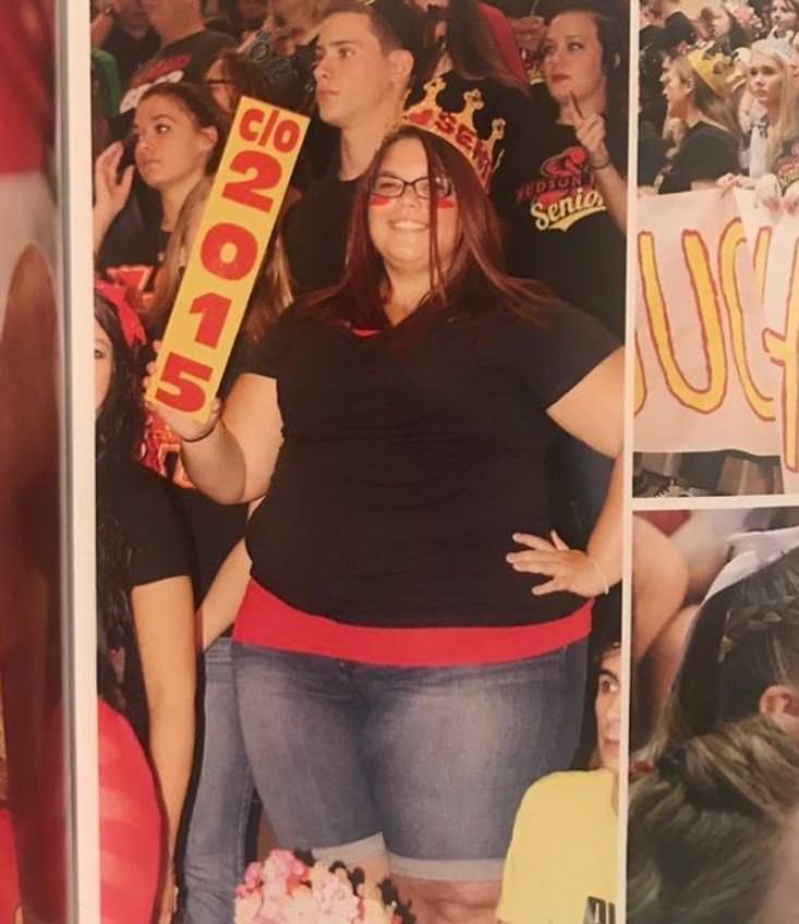 frau nimmt 80 kg ab