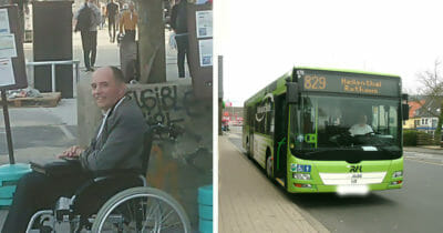 Wheelchair and Busdriver