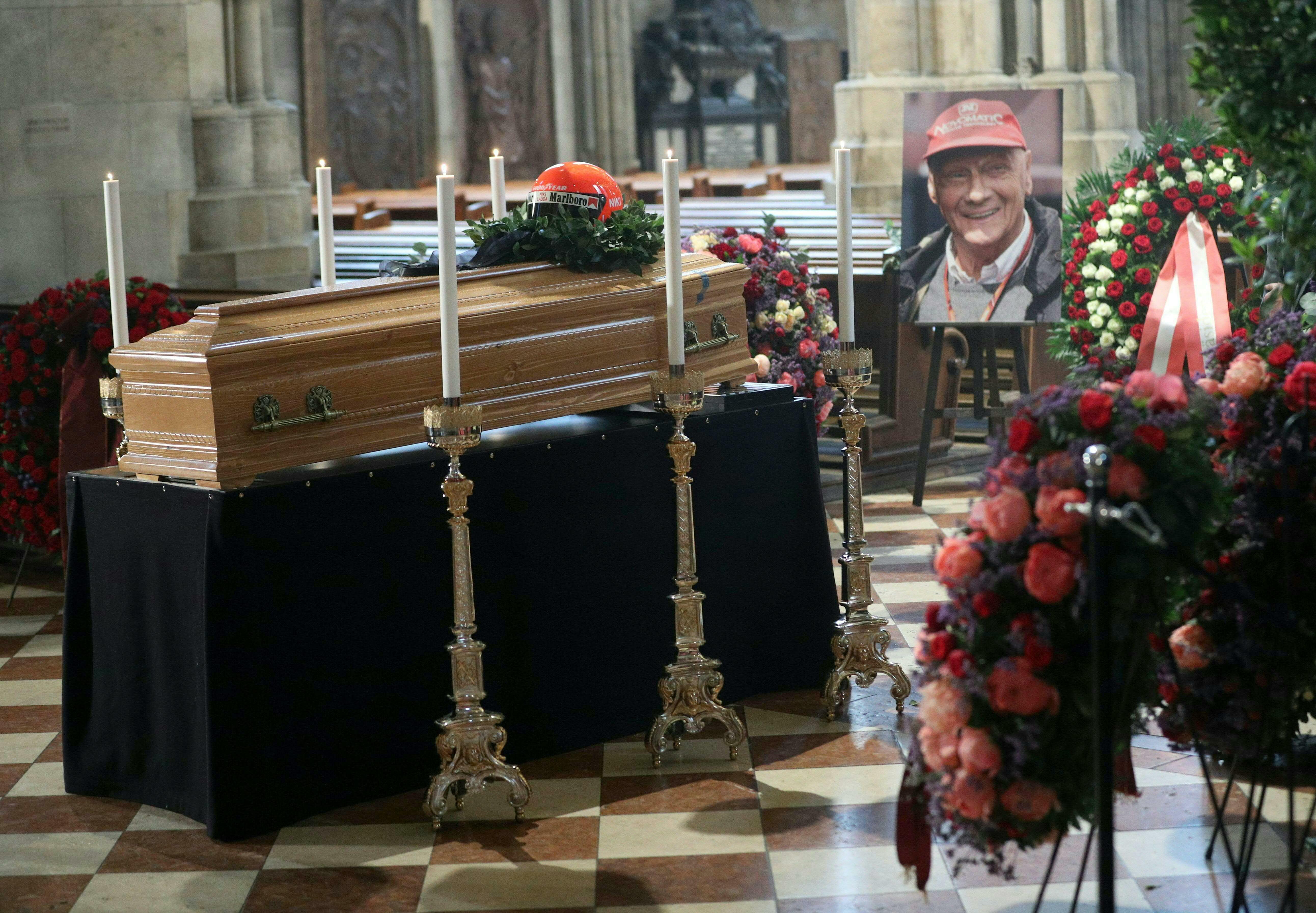 Aufbahrung der verstorbenen Motorsport-Legende Niki Lauda, am Mittwoch, 29. Mai 2019, im Stephansdom in Wien, Oesterreich.
