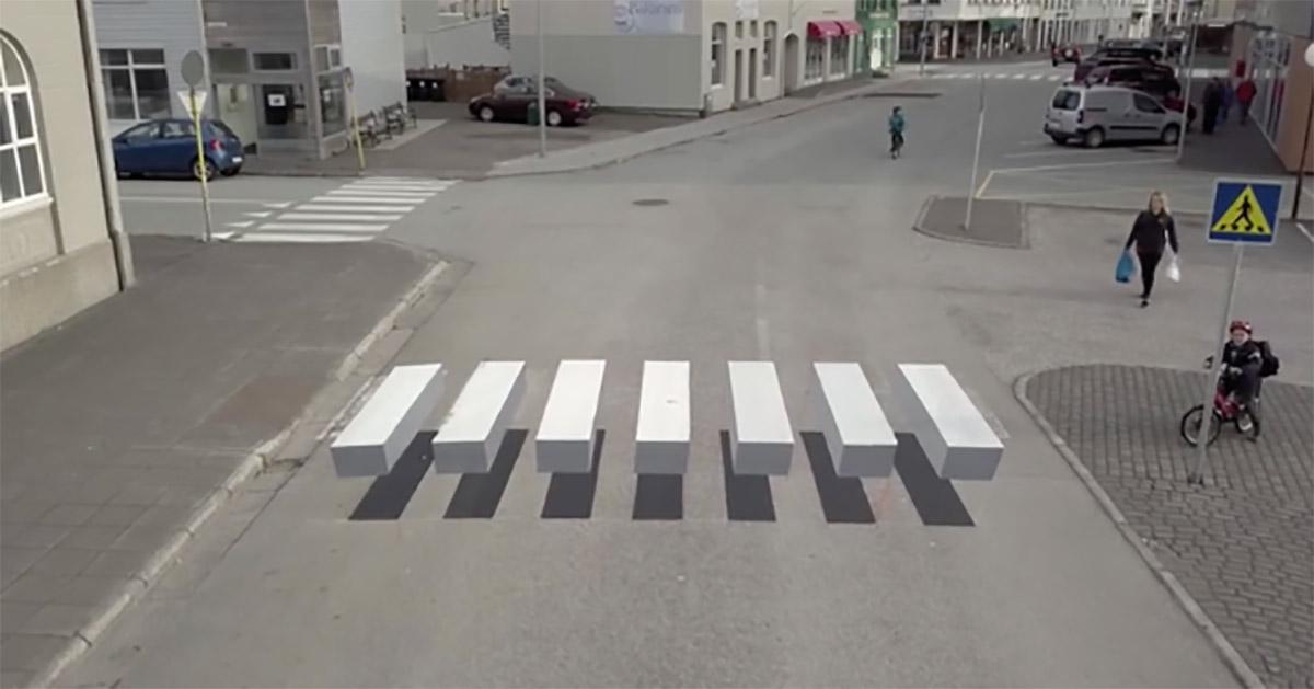 Картинки по запросу В Исландии изобрели необычные пешеходные переходы