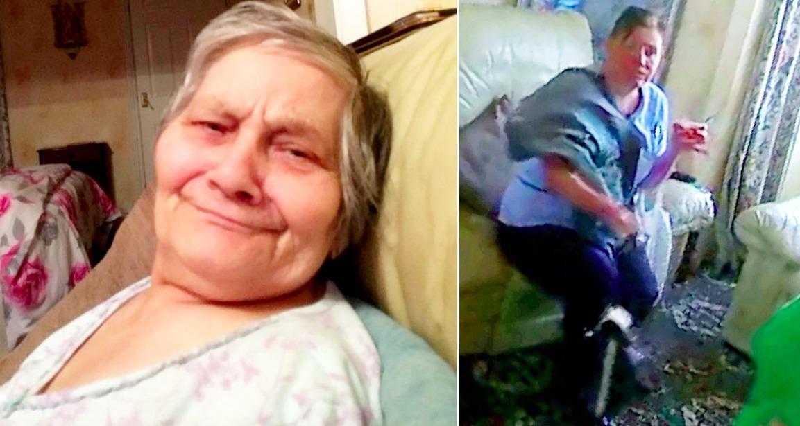 Семья столкнулась с сиделкой, которая плохо обращается и бьёт их страдающую слабоумием мать